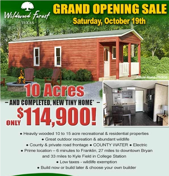 Wildwood Forest Franklin, Texas Grand Opening
